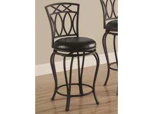 Elegant Metal Barstool with Black Faux Leather Seat by Coaster