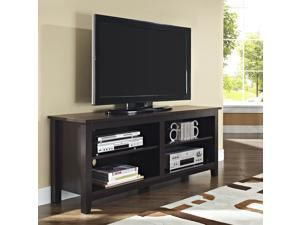 58 in. Wood TV Console - Espresso Finish