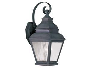 Livex Lighting Exeter Outdoor Wall Lantern in Charcoal - 2601-61