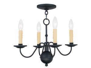 Livex Lighting Heritage Mini Chandelier in Black - 4494-04