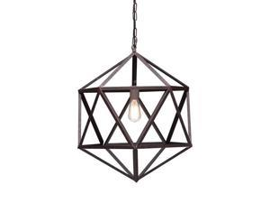 Amethyst Ceiling Lamp Small in Rust by Zuomodern