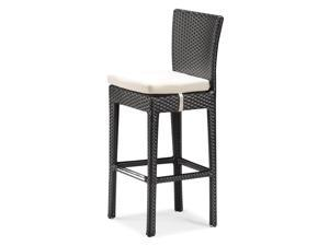Zuo Modern Anguilla Bar Outdoor Bar Chair - Chocolate - 701142