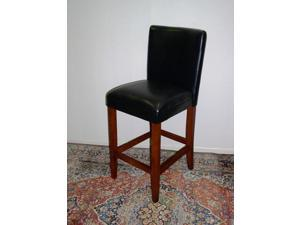4D Concepts Deluxe Black Barstool in Black