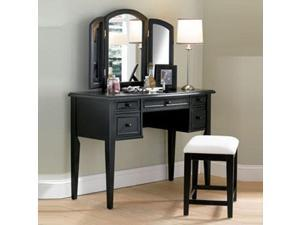 """Antique Black"" with Sand Through Terra Cotta Vanity, Mirror  Bench"