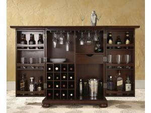 Crosley Alexandria Expandable Bar Cabinet Mahogany - KF40001AMA