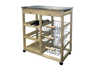 Wood Kitchen Cart By ORE