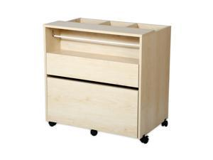 Crea Craft Storage Cabinet on Wheels, Natural Maple by South Shore