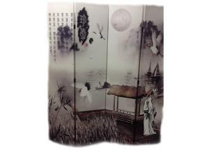 4-Panel Chinese Painting Room Divider Poet's Dream by Ore