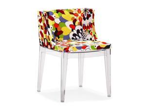 Zuo Modern  102113  Pizzaro Dining Chair in Multicolor Polycarbonate (Set of 2)
