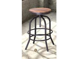 Zuo Modern  98183  Twin Peaks Bar Stool Distressed Natural Fir Wood