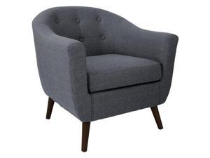 LumiSource CHR-AH-RKWL GY Rockwell Chair Gray