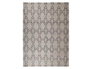 Patterned Gray/White Large Rug