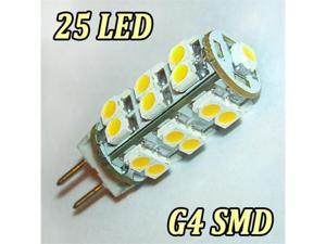 1.5Watts G4 25 SMD LED Warm White Marine Light Bulb Lamp 12 Volt
