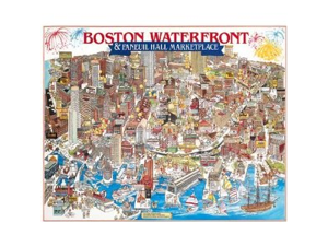 White Mountain Puzzles Boston Waterfront Jigsaw Puzzle (1000 Pieces)