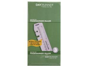 "Page Marker/Ruler 3-3/4""x6-3/4"" 2/PK Clear"