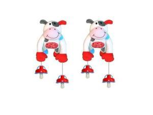 The Interactive Pacifier Holder Toy by PullyPalz includes MooMoo the Cow 2-pack Combo