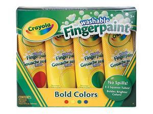 WASHABLE FINGERPAINT 4CT PRIMARY