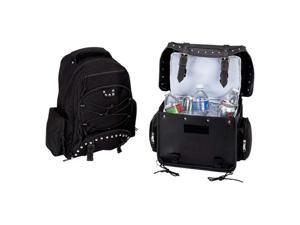 Diamond Plate™ Heavy-Duty PVC Motorcycle Cooler Bag and Backpack