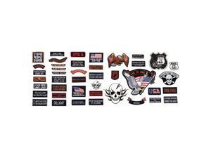 Diamond Plate™ 42pc Embroidered Motorcycle Patch Set