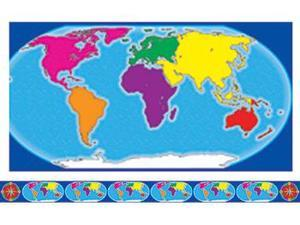 BORDERS W/ CORNERS WORLD MAP &
