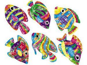 SPARKLE STICKERS FLASHY FISH