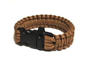 Survival Bracelet w/Whistle - Khaki