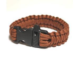 Survival Bracelet w/Whistle - Brown