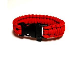 Survival Bracelet w/Whistle - Red