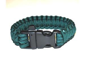 Survival Bracelet w/Whistle - Blue-Green