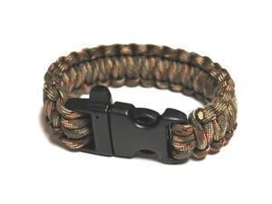Survival Bracelet w/Whistle - OD Green C