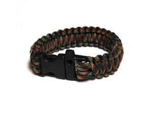 Survival Bracelet w/Whistle - Army Camo