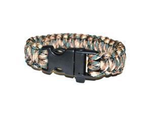 Survival Bracelet w/Whistle- Grey/Beige