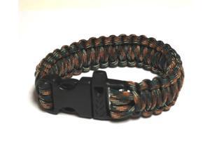 Survival Bracelet w/Whistle - Dark Grn C