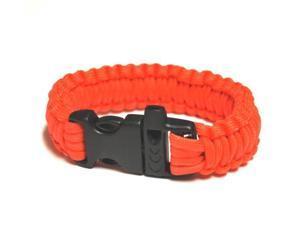 Survival Bracelet w/Whistle - Orange