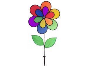 Double Wheel 12 Petal Flower w/ Leaves Spinner