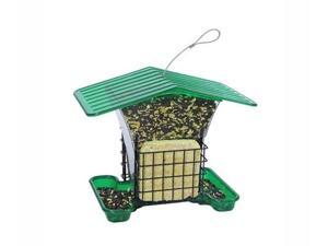 Large Hopper Feeder with Suet Holders (Green Only)