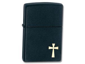 Black Matte, Gold Cross