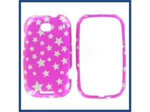 Motorola MB520 (Bravo) Star on Hot Pink Protective Case