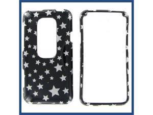 HTC Evo 3D Star on Black Protective Case