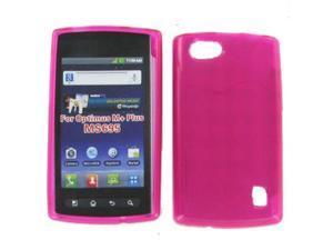 LG MS695 (Optimus Elite/ OptimusM+) Crystal Hot Pink Skin Case