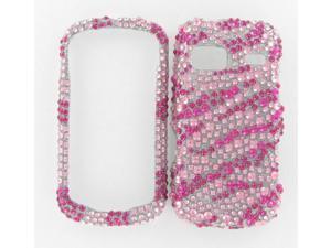 LG LN272 (Rumor Reflex) Full Diamond Hot Pink Zebra Protective Case
