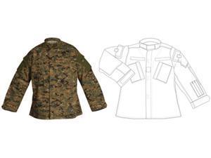 Atlanta Army Navy Tactical Response Uniform Shirt Digital Woodland - Large