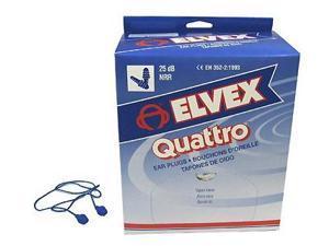 ELVEX EP-411 Ear Plugs, 25dB, Corded, Univ, PK100