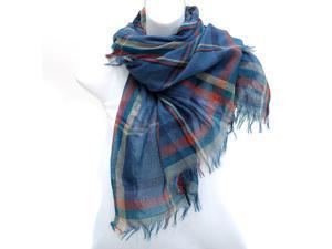 Plaid Fashion Scarf - Blue