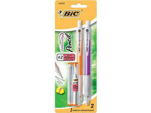 BIC MVP21 Velocity Mechanical Pencil #2 Pencil Grade - 0.9 mm Lead Size - Assorted Barrel - 2 / Pack