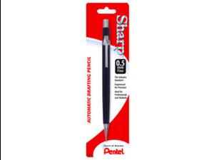 Pentel P205BPK6 Sharp Mechanical Pencil #2, HB Pencil Grade - 0.5 mm Lead Size - Black Lead - Black Barrel - 1 / Pack