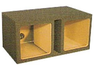 Atrend 12in Dual Vented Square Box Enclosure Kicker Comp VR L7/L5 Specific - Atrend 12KDV