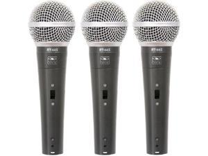 Handheld Dynamic Microphone 3PK with Switch and XLR-1/4 Cable