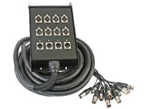 8 Send / 4 Return 49 Ft Xlr Cable Snake