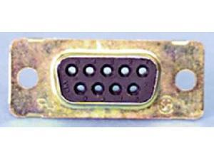 9 Pin D Sub Receptacle - Zinc Plated Finish